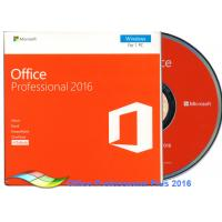 Buy cheap Original Office 2016 Professional FPP , Microsoft Office Professional Plus 2016 DVD from wholesalers