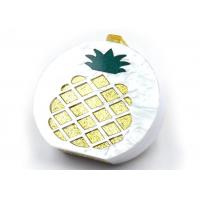 Buy cheap Trendy Pineapple White Clutch Bag , Evening Clutch Bags For Splicing Banquet from wholesalers