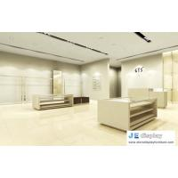 Buy cheap cloth store interior furniture wood display counters and stainless steel wardrobe racks from wholesalers
