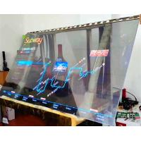 China Large Transparent OLED Touch Screen / Thin Transparent Video Glass Screen on sale