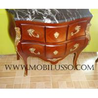 Buy cheap Luxury Reproduction French antique bombe chest of drawers from wholesalers