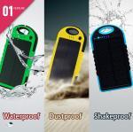 Buy cheap Portable waterproof/ dustproof/shakeproof solar power bank 5000mah from wholesalers