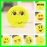 Buy cheap PVC cartoon cute mini round emoticons eraser for promotional gifts from wholesalers