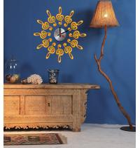 China 3M Vinyl Flower Design Wall Sticker Clock, Home Art Decoration 10A134 on sale