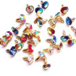 Buy cheap Colored Diamond Rivets Sharp-Bottomed on Leather; Diamond Rivets; Leathercrafts Rivets; Crystal Diamond Rivets from wholesalers