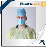 Buy cheap Blue Disposable Head Cap Disposable Surgical Scrub Hats 30Gsm Non Woven from wholesalers