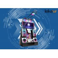 Buy cheap Color Customized 9D Virtual Reality Arcade Dance Machine With Massive Songs from wholesalers