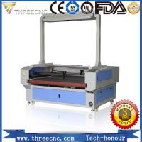 Buy cheap China professional laser manufacturer laser cutting machine price with CCD and feeding table. TLF1390-CCD. THREECNC from wholesalers