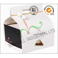 Buy cheap Custom Decorative Individual Wedding Cake Boxes With Convenience Handle from wholesalers