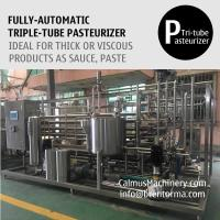 Buy cheap 3000L/H Triple-Tube Heat Exchanger Tubular Sterilizer Sauce Paste Puree Pasteurizer from wholesalers