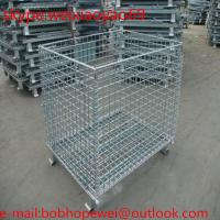 Buy cheap Stackable Storage Cage/ matal storage sheds/pallet cage/security cage/metal bin/steel storage cabinets/cage storage from wholesalers