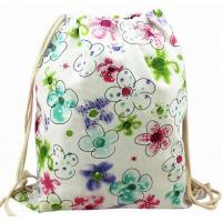 Buy cheap floral canvas backpack from wholesalers