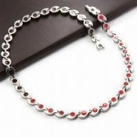 Buy cheap Necklace in Titanium Stainless Steel, with 4,000 Gauss Magnetic FIR, 4-in-1 product