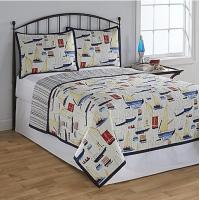 Buy cheap Polyester Washable Patchwork Quilt Bedding Set Queen Size For Wedding from wholesalers