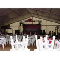Buy cheap Popular Wedding Party Tent  850g / Sqm Sun Block PVC 6m * 12M PVC Fabric / Glass Doors from wholesalers