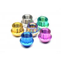 Buy cheap Conical Seat Titanium Wheel Lug Nuts GR5 HEX19 60 Degree M12 X 1.25 Wheel Nuts from wholesalers
