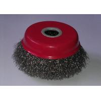 100mm OD Fine Crimped Wire Cup Brush , Rotary Steel Wire Brushes For Removal Rust