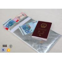 Buy cheap 10.6 x  6.7 Fireproof Document Pouch With Red Polyester Fabric Inner Layer from wholesalers