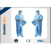 Buy cheap Unisex SMMS Disposable Scrub Suits V-neck Shirt And Pants For Doctor EO Sterilized from wholesalers
