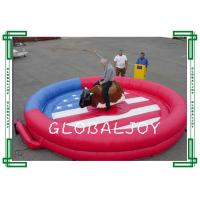 Buy cheap 5m Diameter Inflatable Sport Game Inflatable Mechanical Bull / Rodeo Bull from wholesalers