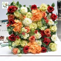 Buy cheap UVG romantic rose artificial floral wall for photography backdrop art studio backgroudn decoration CHR1143 from wholesalers