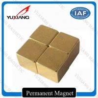 Buy cheap 5*5*5mm Magic Neodymium Permanent Magnets Cube Gold Coating / Plating product