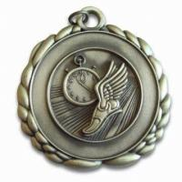 Buy cheap 3D Sports custom medal pendants with ring, Zinc alloy material, for Souvenir gifts from wholesalers