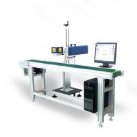 Buy cheap Aluminum Flying Laser Marking Machine / Laser Engraving Machine With Convery Belt from wholesalers