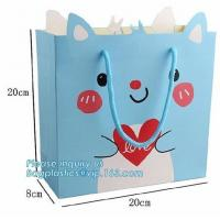 Buy cheap 250g Custom Printed Luxury Gift Shopping Big Strong Paper Bags,Eco-friendly manufacture whole sale flower paper carry ba from wholesalers