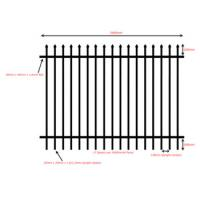 China 2016 Good quality colors house gate designs and Wrought iron fence / steel fence. on sale