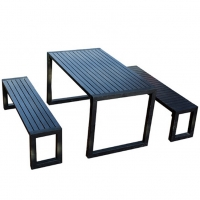 Buy cheap L180W80H75cm Patio Park Tables And Chairs from wholesalers
