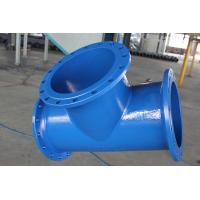 Buy cheap Ductile 3 Inch Cast Iron Pipe Fittings Epoxy Resin Spraying 1.6Mpa Pressure from wholesalers