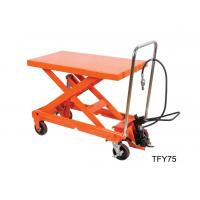 Buy cheap Luxury Pneumatic Lift Table , Hydraulic Scissor Table Truck 750Kg 16501b Load Capacity from wholesalers