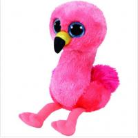 Buy cheap 15cm Flamingo Bird Plush Doll Stuffed Animal Collectible Soft Big Eyes Gift Toy from wholesalers