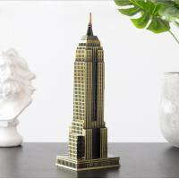 Buy cheap New York metal crafts Empire state building model souvenir gift table decor from wholesalers