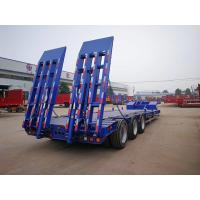 Buy cheap 3 Axles 12 Wheeler 60tons Gooseneck Low Loader Lowboy Lowbed Trailer from wholesalers