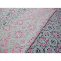 Buy cheap Pink Geometric Polyester Lace Fabric Cotton Burnout Allover Lace for Lady Clothes(CY-DK0041) from wholesalers