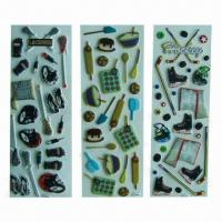 Buy cheap Puffy stickers with fashionable design, eco-friendly, used for advertisement/promotional purposes product