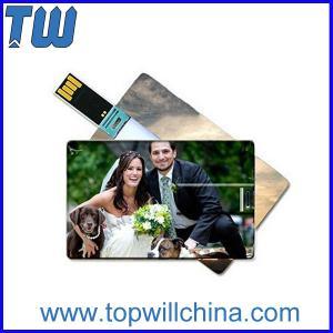 Digital Printing Plastic 128GB Usb Flash Drive Credit Card Size Pocket Hold
