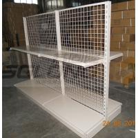 Buy cheap Supermarket Light Duty Double Sided Gondola Shelving Wire Storage Racks from wholesalers