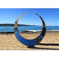 Buy cheap Famous Outdoor Decoration Ring Sculpture Stainless Steel Modern Polished from wholesalers