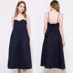 Buy cheap Best Quality Plus Size Navy Blue Midi Elegant Lady Dress from wholesalers
