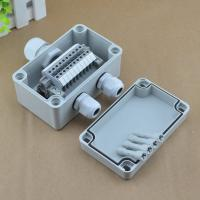 Buy cheap IP65 Waterproof Cable Junction Box 80*130*70mm with UK2.5B Din Rail Terminal Blocks set from wholesalers