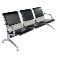 Buy cheap Black Color Hospital Waiting Area Chairs Pu Cushion Herringbone Stand from wholesalers