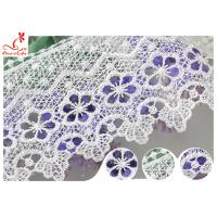 Buy cheap White 100% Polyester Water Soluble Lace Trim For Clothing Factory product