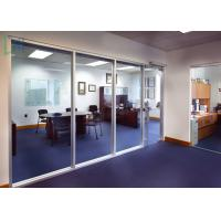 Buy cheap 110 Series Aluminium Office Partition Easy Assembly With Clear / Frosted Glass from wholesalers