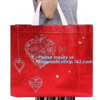 Buy cheap Chinese suppliers custom printed shopping portable hand non woven bag with print logo, 100% biodegradable laminated non from wholesalers