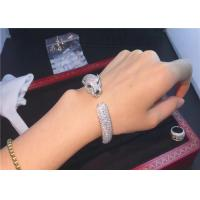 Buy cheap Cartierjewelry 18k white gold Panthere de Cartier bracelet 706 diamonds product