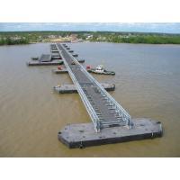 Buy cheap Highway Bailey Steel Bridge , Modular Recyclable Military Floating Bridge product