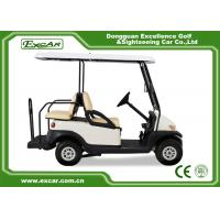 Buy cheap White Used Electric Golf Carts With Trojan Battery CE Approved 4 Seater 275A from wholesalers